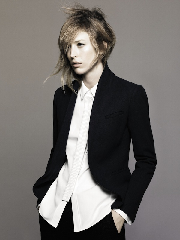 Raquel Zimmermann in Jil Sander + Uniqlo Fall 2010 Campaign Preview by David Sims