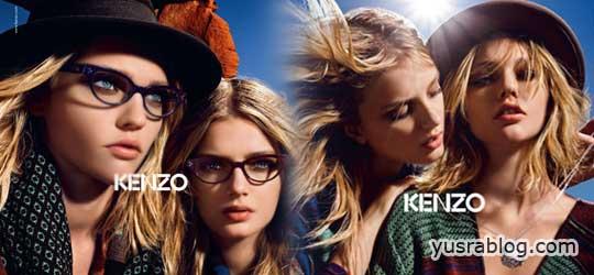Kenzo Fall 2010 Campaign – Lily D & Sasha P by Mario Sorrenti