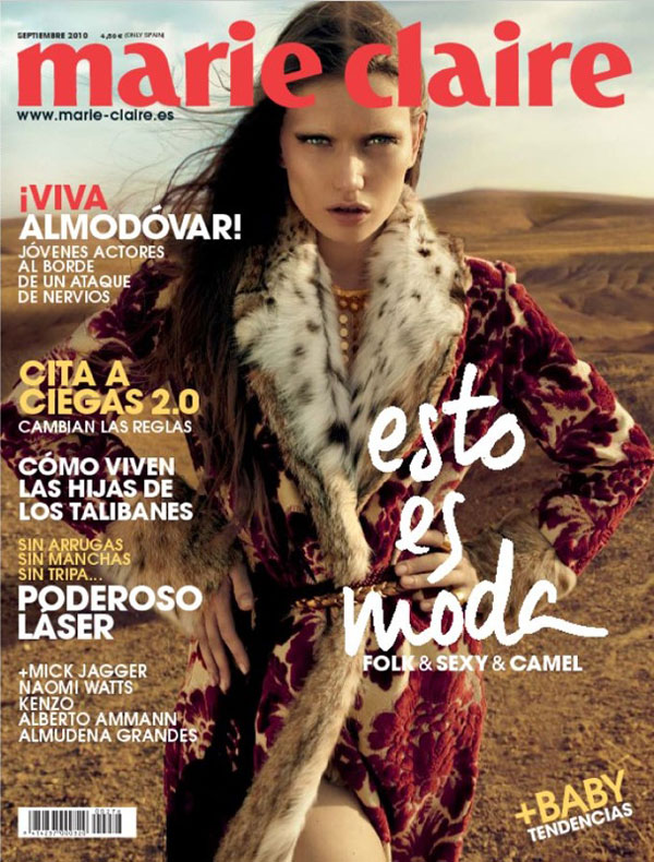 Marie Claire Spain September 2010 Cover – Lyoka Tyagnereva by David Roemer