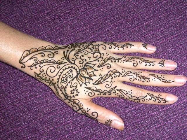 New Flower Mehndi : Flowers mehndi design for hands henna print yusra