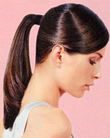 ponytail hairstyle for long and medium hairs   yusrablog