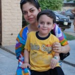 Adeel Hashmi Wife and son