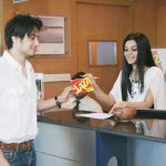 Ali Zafar in Mobilink Office