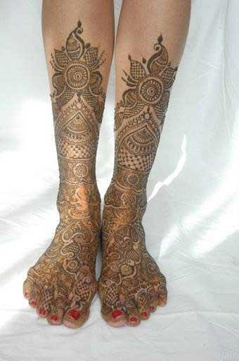 Bridal Mehndi Leg Designs : Bridal henna mehndi designs for legs special selection