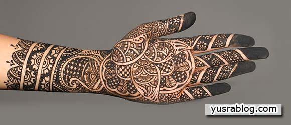 Full Hand Arms and Feet Thick Mehndi Designs on Eid