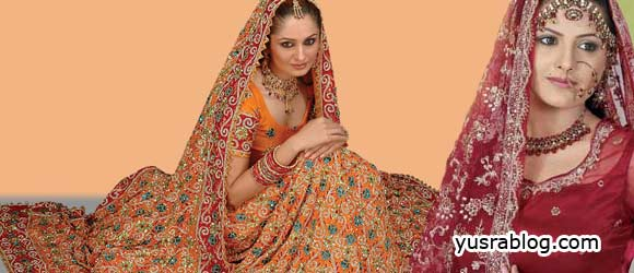 Heavy Dupatta Designs for Bridal New Collection 2010