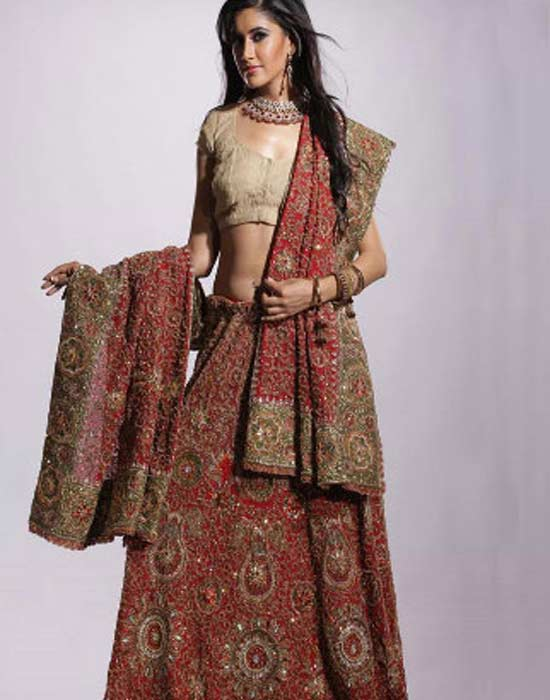 Embroidered Heavy Dupatta for Dulhan – Awesome Collection