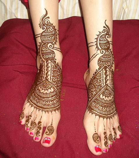 Bridal Foot Mehndi Designs Unforgettable Collection : Feet henna designs for bridal yusra