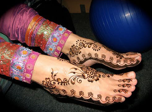 Indian Mehndi Designs for Feet – Best Collection 2010- 2011