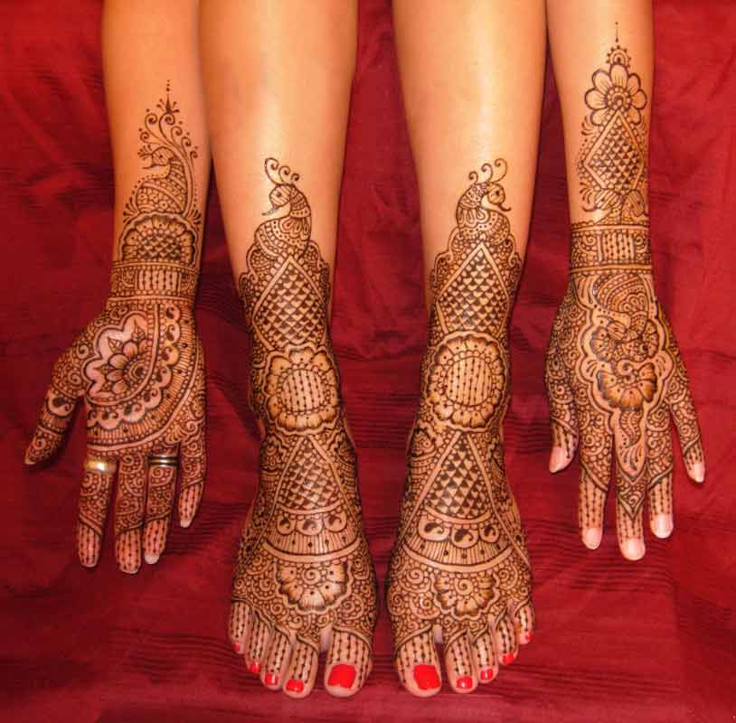 Mehndi Party Hindu : Indian party mehndi designs for hands