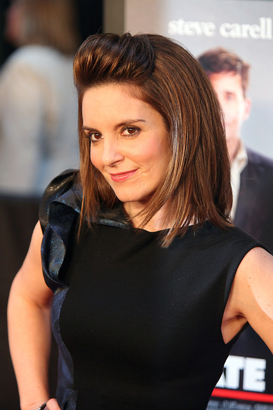 Medium Length Female Haircuts. Tina Fey Mid-Length Bob