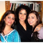 Angeline Malik with Tehreem and Eyesha