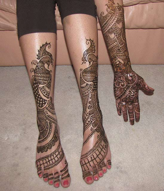 Mehndi Tattoo Designs For Legs : Arabic mehndi designs for legs awesome collection