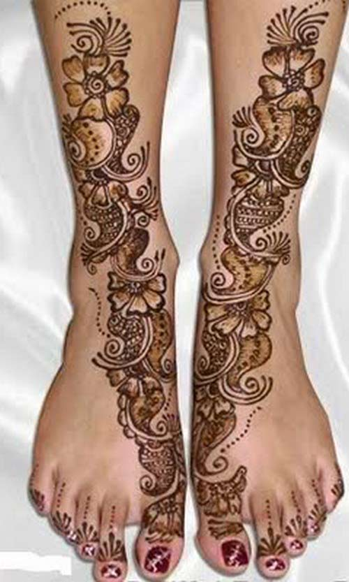 Full Leg Mehndi : Arabic mehndi designs for legs awesome collection