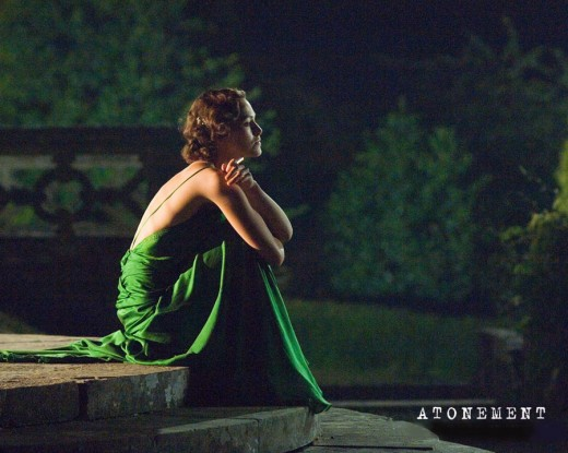 keira knightley in atonement green. Keira Knightley in Backless