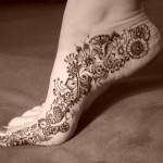 Latest Mehndi Design for Feet