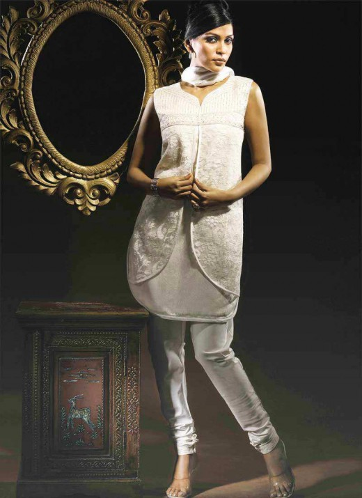 designs for ladies suits. White Salwar Suit New Designs