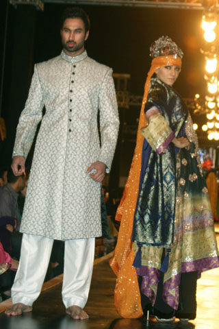 Ali Xeeshan Bridal and Groom Dresses Collection at Couture Week 2010 - Ali Xeeshan Dresses at Bridal Couture Week 2010 in Lahore