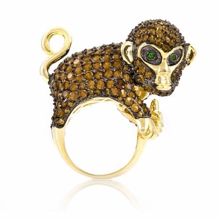 Beautiful Monkey Ring for Girls - Glamorous Animal Cocktail Rings Fashion For 2011