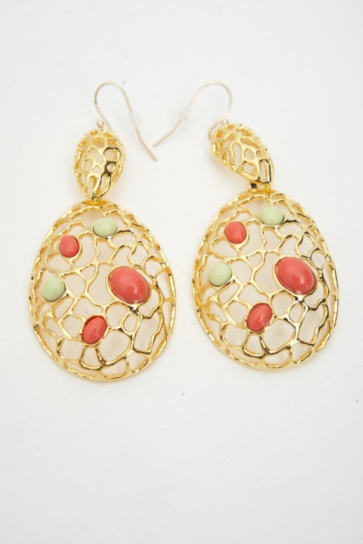 Best Green and Coral Beads Earring Fashion 520x779 - Fantasy Earrings Jewelry Fashion For 2010 – 11
