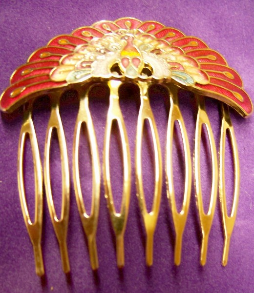 Bridal Cloisonne Gold Hair Comb Design 520x601 - Bridal Gold Hair Combs: 15 Remarkable Collection