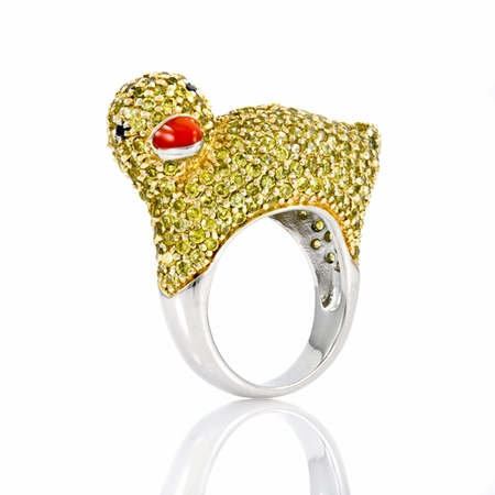 Cute Duck Cocktail Ring for Party - Glamorous Animal Cocktail Rings Fashion For 2011