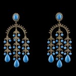 Diamond Turquoise Earrings Jewelry for Asian Girls
