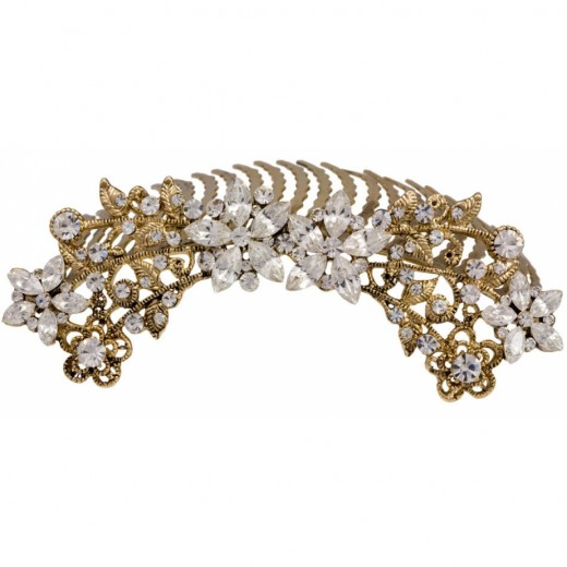 Dreams of Gold Hair Comb for Wedding Day 520x520 - Bridal Gold Hair Combs: 15 Remarkable Collection