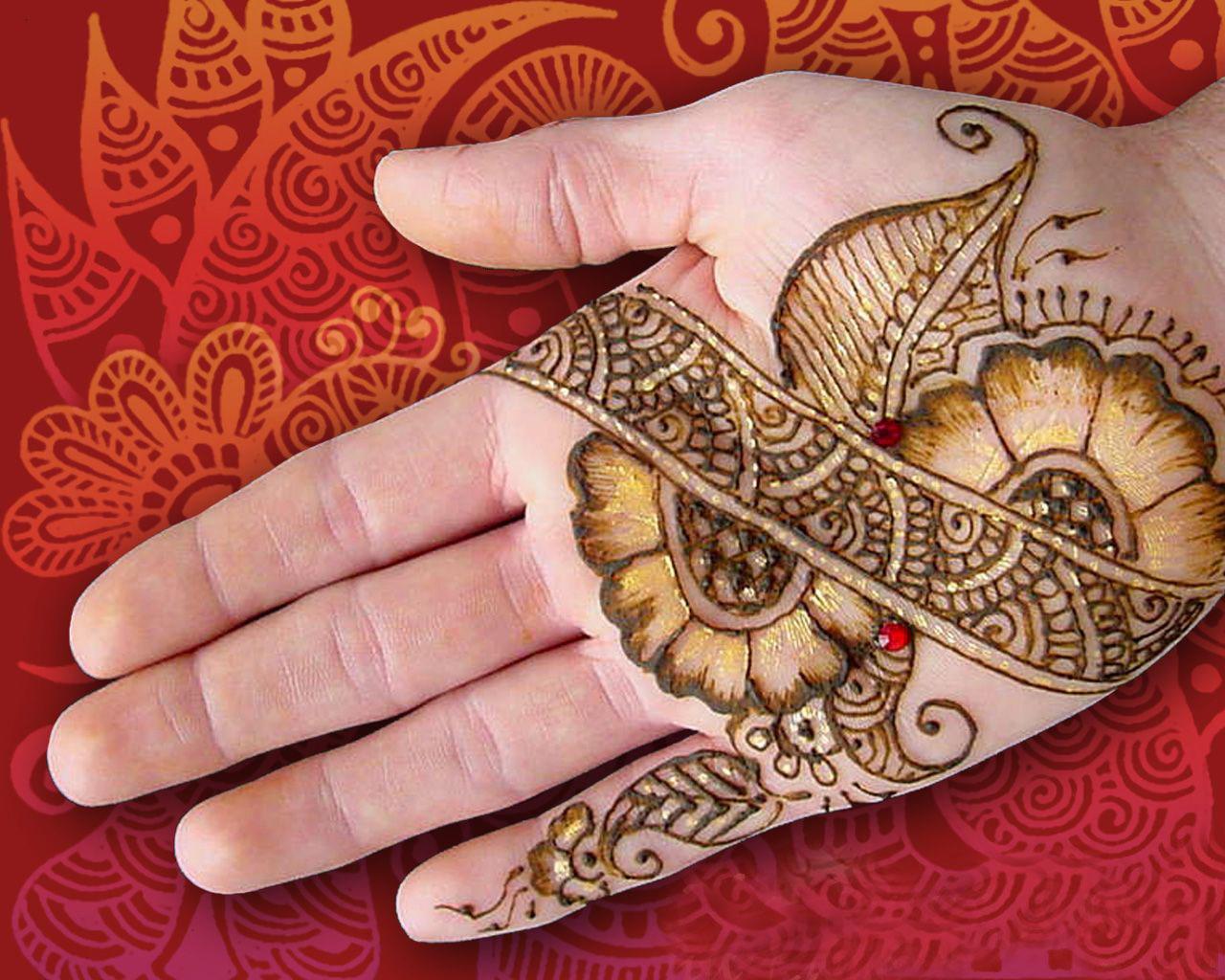Latest Mehndi Designs For Eid 2010-11: 15 New Henna Styles