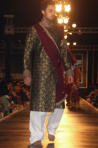 Groom Dresses Collection of Mehdi from Couture Week 2010 - Mehdi Pakistani Designer Collection at Bridal Couture Week 2010