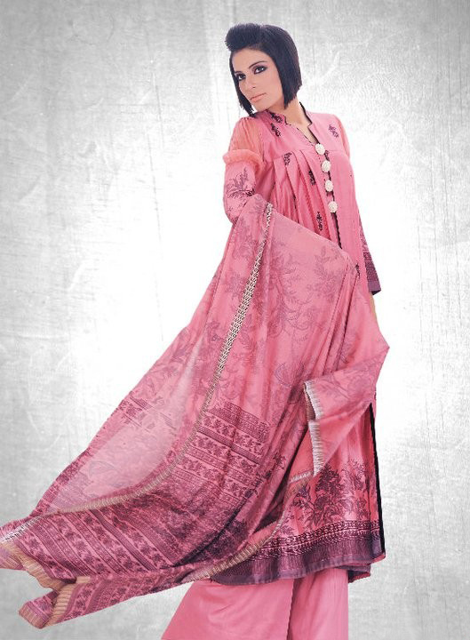 Gul Ahmed Winter Dresses For 2011: Latest Collection For Winter Season