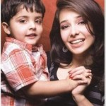 Model Juggan Kazim with Son
