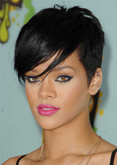 rihanna short hairstyles. Rihanna Short Crop Hairstyle