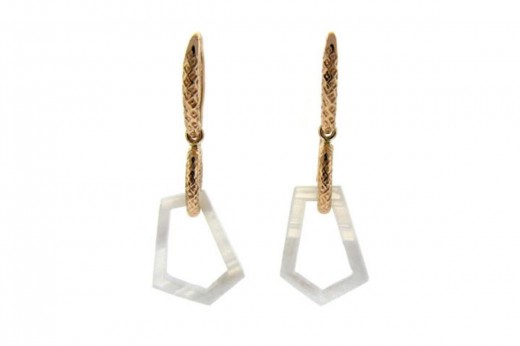 Yellow Gold White Lace Agate Earrings for Women 520x346 - Fantasy Earrings Jewelry Fashion For 2010 – 11