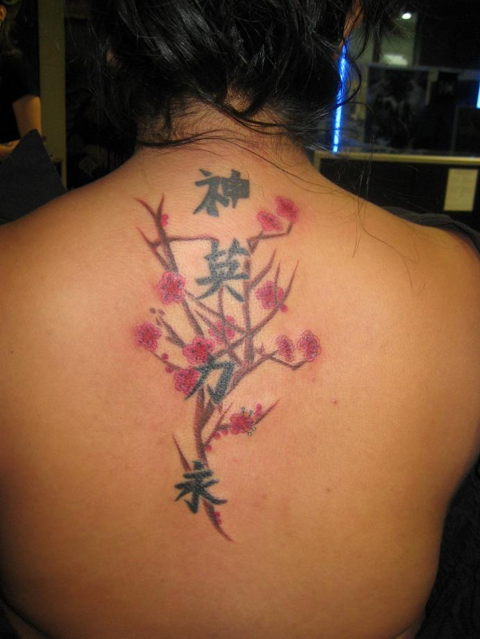 flower back tattoo. Best Asian Tattoo Design