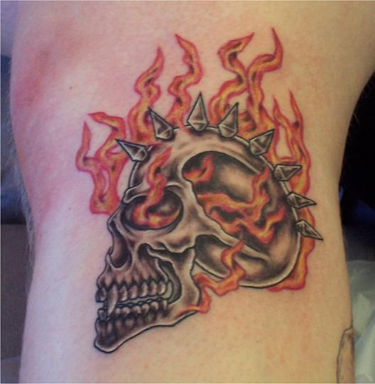 Make Your Feel Strong With Fire and Flame Tattoo Design