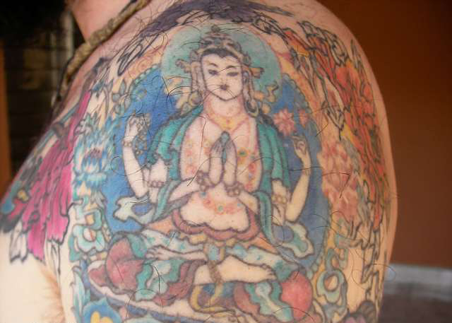 Bizarre and Creative Buddhist Tattoo Designs