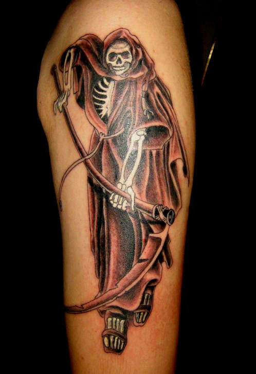reaper tattoos. Cool Death Tattoo