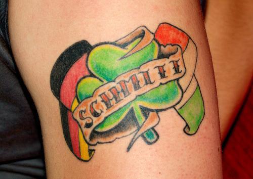 Cool Flag Tattoo Design