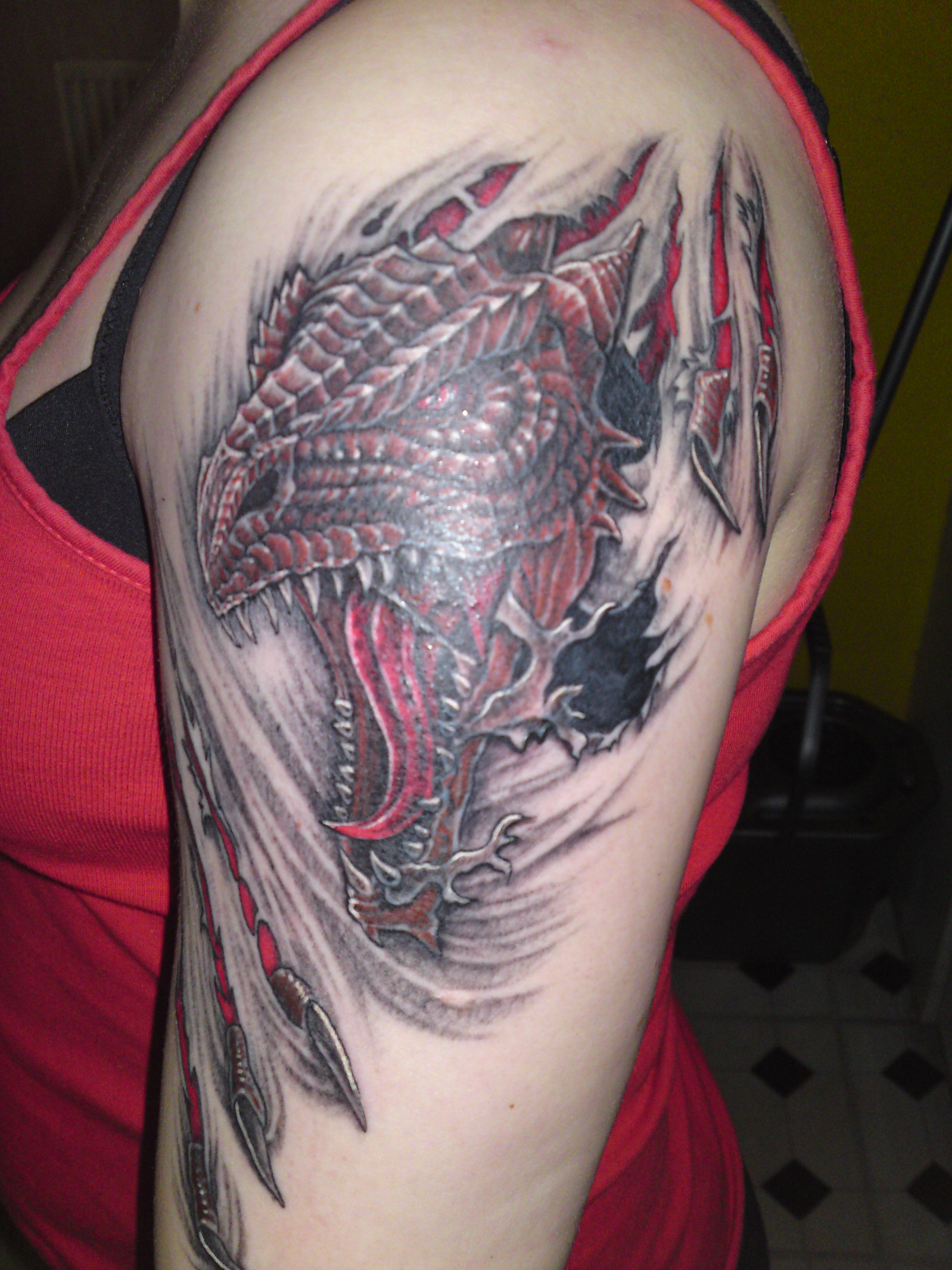Aggressive Examples of Dragon Tattoo Designs | YusraBlog.