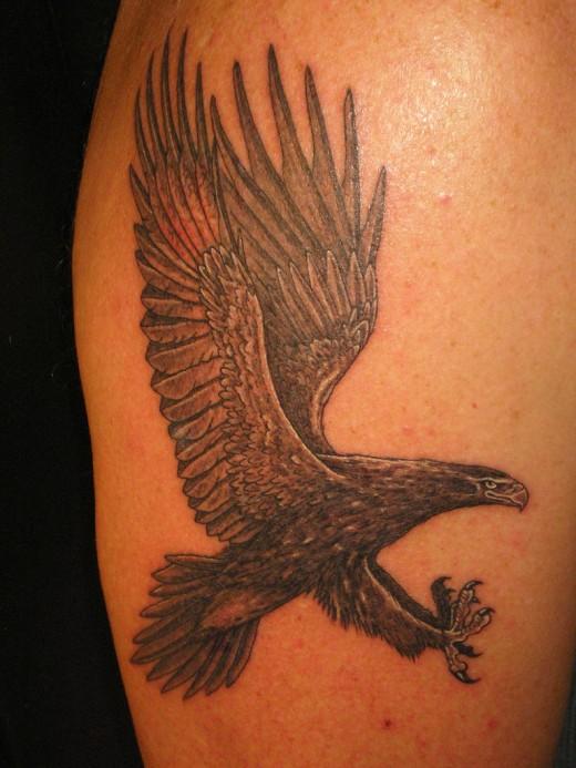 more stunning eagle tattoo designs for girls. Black Bedroom Furniture Sets. Home Design Ideas