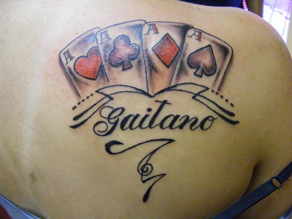 Cool gambling tattoos