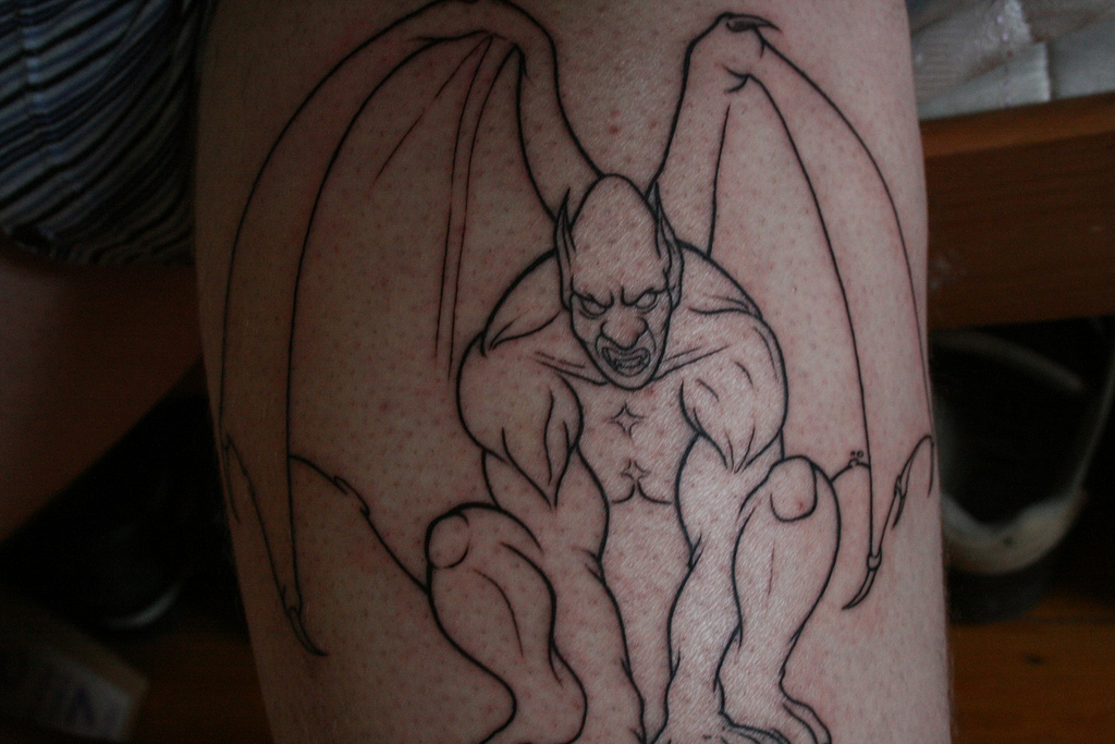 Most Beautiful Gargoyle Tattoo Design In The World