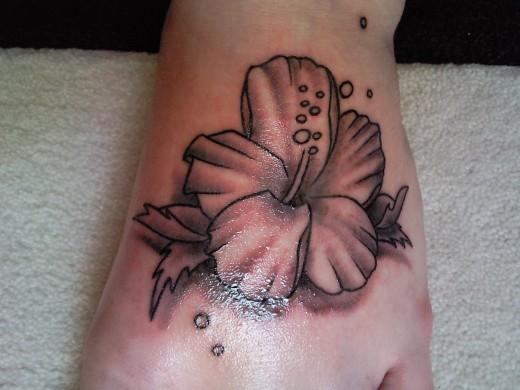 tattoo hibiscus. Hibiscus Tattoo for Feet