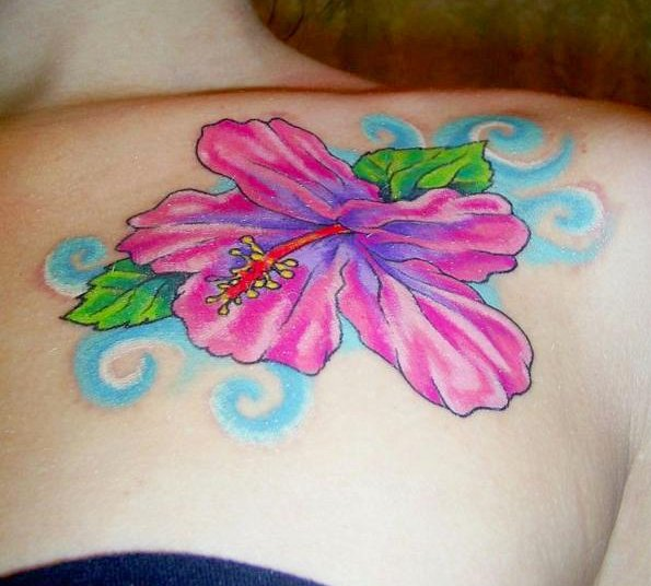 Best Hibiscus Flower Tattoo Designs For Girls