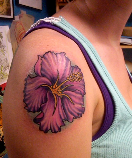 Tropical Flower Rib Tattoos: Best Hibiscus Flower Tattoo Designs For Girls
