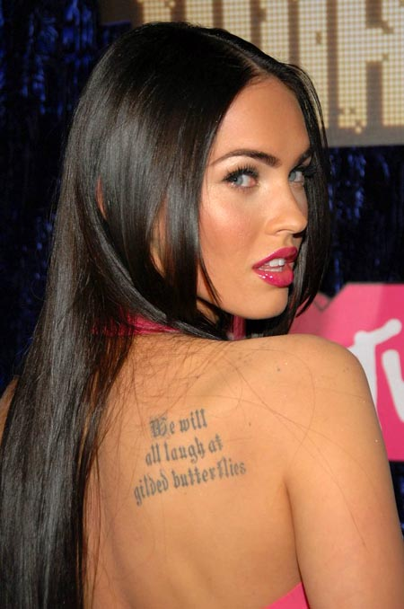 megan fox tattoos removed. Megan Fox Actress Tattoo