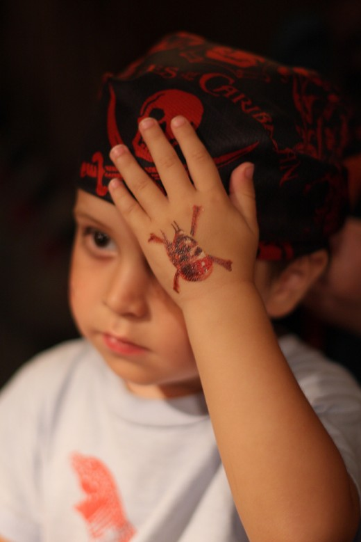 Pirate tattoo for little kids for Little kid tattoos