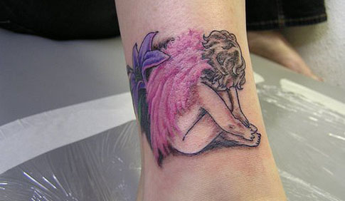 angel tattoo ideas. Small Angel Tattoo Design