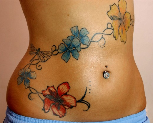 makeover your belly with stomach tattoos designs. Black Bedroom Furniture Sets. Home Design Ideas